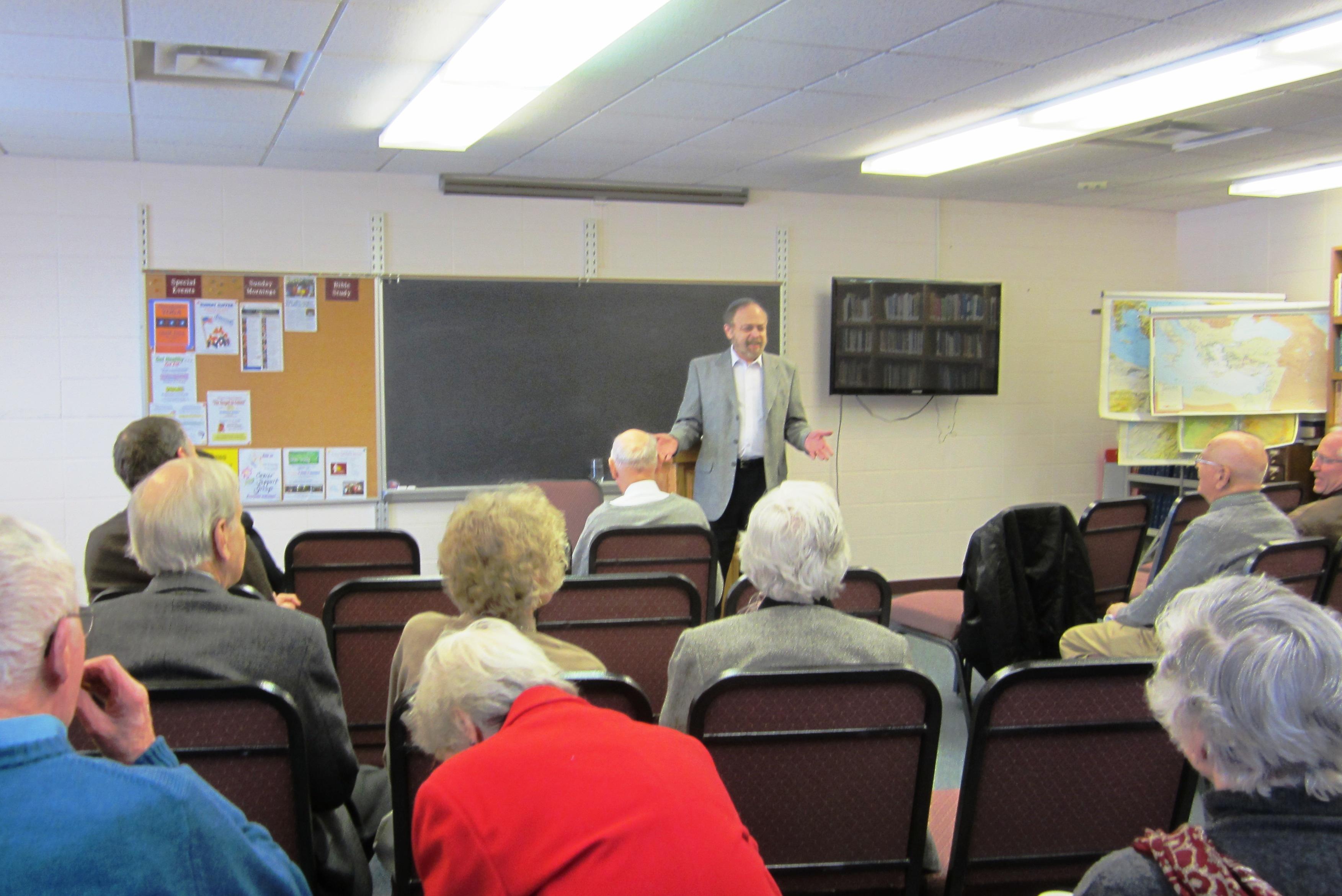 Teaching at a church